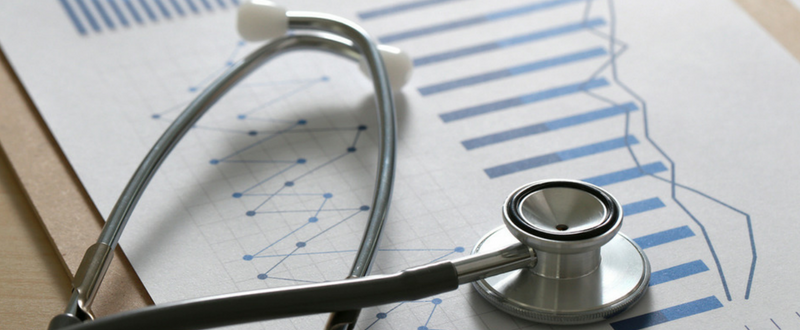 What are the 4 major categories of data found in health organizations?