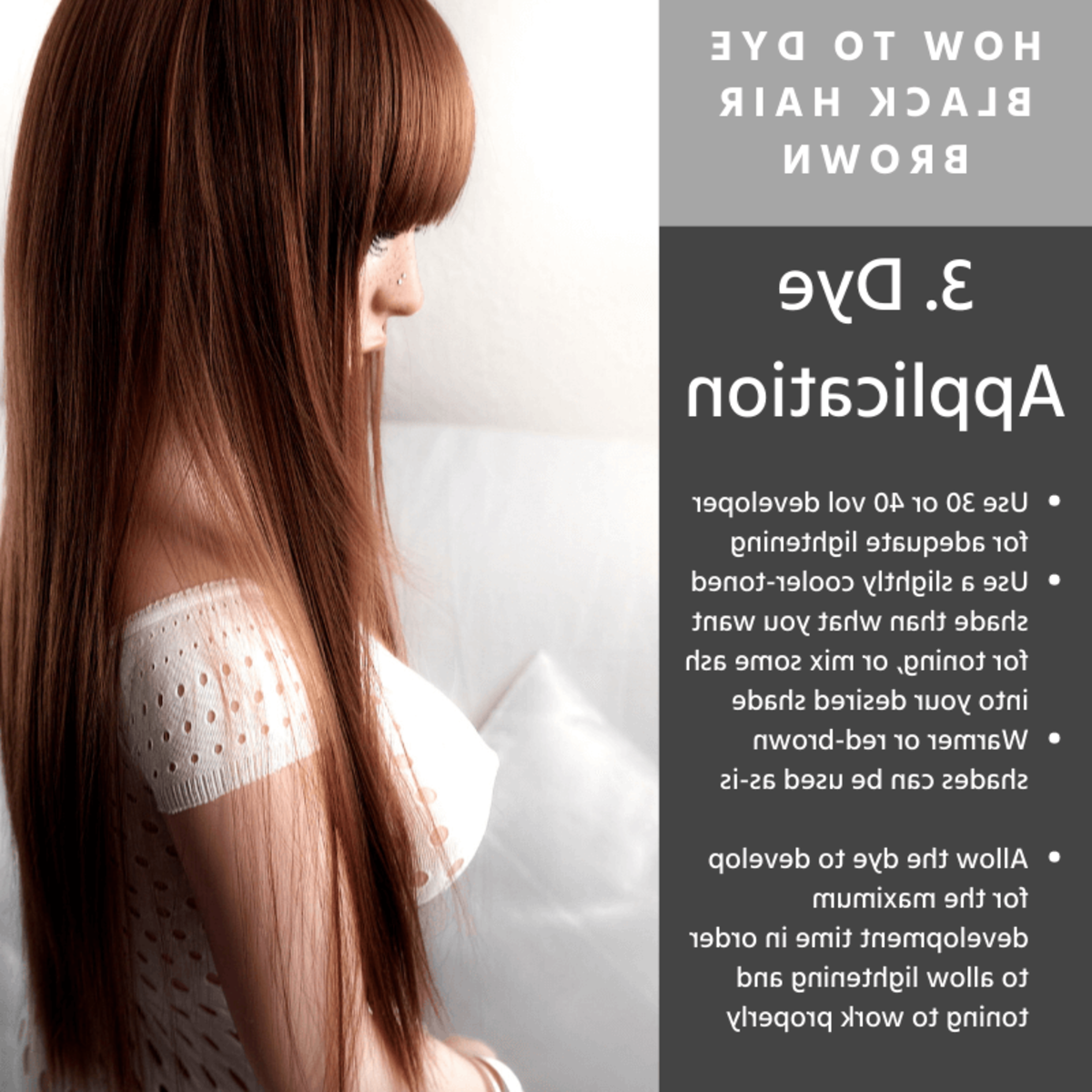 Can you apply developer directly to hair?