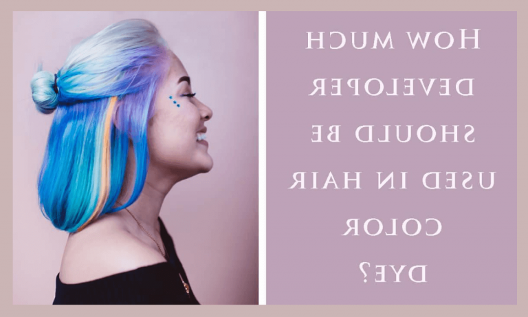 Can you mix developer with hair dye?