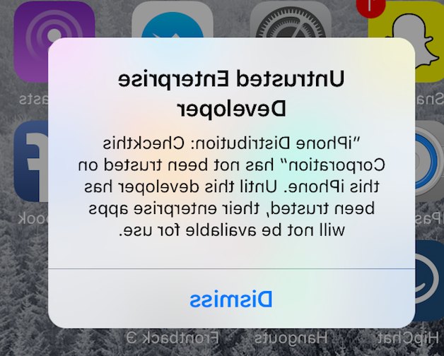 How do I enable untrusted apps on iPhone?