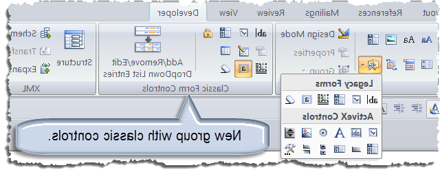 How do you change developer tools in Word?